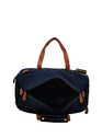 Yelloe Blue Duffle Bag With Big Compartment & Military Desig