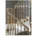 25-50 Mm Stairs Brass Staircase Railing, For Home, Hotel, Mounting Type: Floor