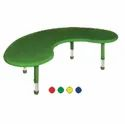 Green Playpro Playschool Moon Shaped Plastic Table