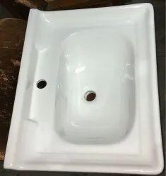 White/Ivory Ceramic Basin For Bathroom Vanity