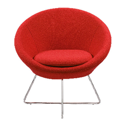 Round Shape Red Lounge Chair