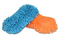 Microfiber Car Cleaning Glove With Sponge