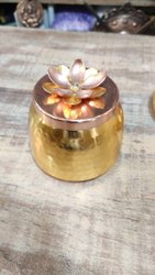 Wandcraft Exports Copper Plated Iron Decorative Candle Jar.