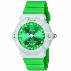 Jainx Green Round Analog Children Watch For Boys And Girls - JK001