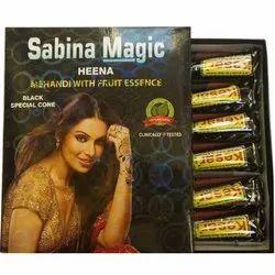 Sabina Magic Black Heena Cone, 12 Cones
