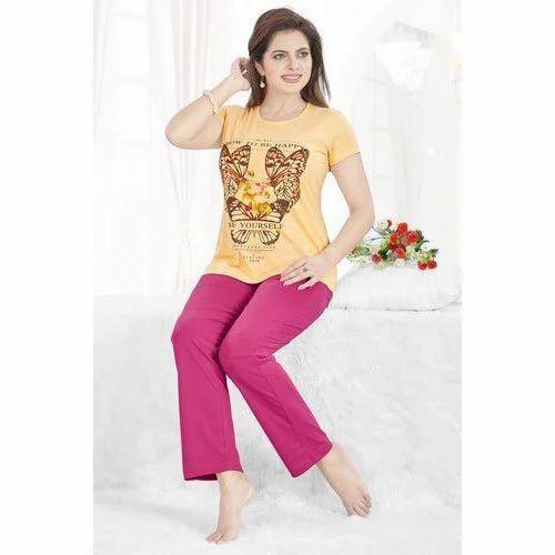 91ed967156 Printed Cotton Ladies Stylish Night Suit, Rs 465 /piece, Keshav ...