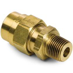Brass Male Connector, Size: 3/8 Inch