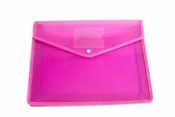 Classik Plastic Button File Folder Transparent Cross Line Design Document Bag 0.35 With Net_604
