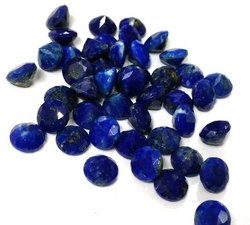Natural Lapis Lazuli Faceted Round Loose Gemstone