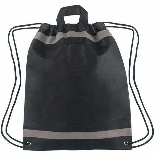 Printbite Black Non Woven Drawstring Shoe Bags