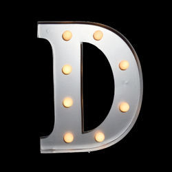 Steel Letter Back Glow LED Light