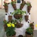 COIR GARDEN Conical Coir Hanging Basket