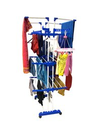 Double Pole Cloth Drying Stand