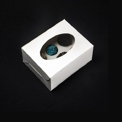 6SP 6 Mini Cupcake Box with Window & Insert