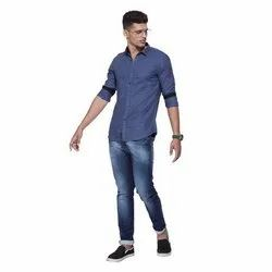 Cotton Casual Wear Full Sleeves Casual Shirts, Size: XXL, Hand Wash