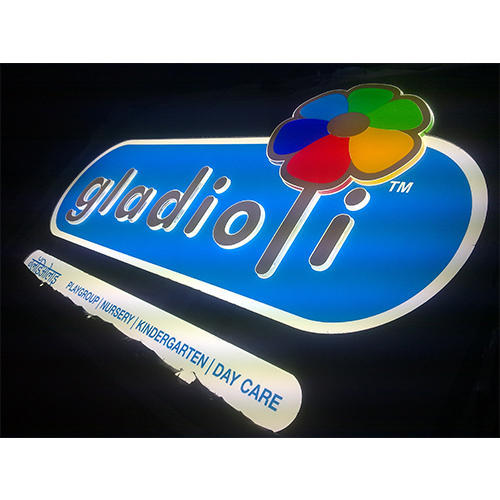 Front Lit Acp Glow Sign Board