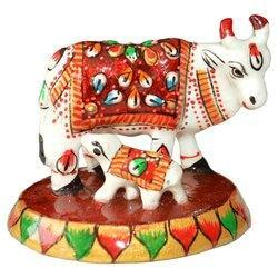 Meena Painted Cow With Child