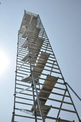 Aluminium Double Width Stairway Mobile Tower Scaffolding