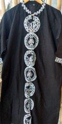 Black Handcrafted Madhubani Handpainted Cotton Kurti