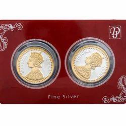 King Queen Silver Coin