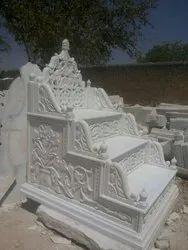 Modern White Marble Masjid Mimbar