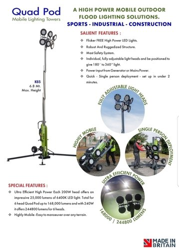 7eec3021fd3c Quad Pod Mobile Lighting Tower K65 360