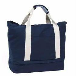 Blue Premium Canvas Foldable Travel Bag