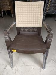 Polypropylene Matt Finish Double Colour Chair, Warranty: No Warranty, Size: Large
