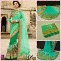 Beautiful Embroidery Work Georgette Saree With Blouse