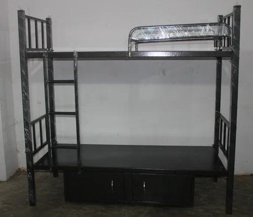 2 5x6 Feet Black Hamarton Tier Bunk Bed With Storage Or Cot