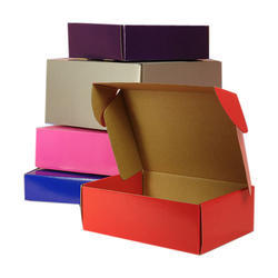 E-Flute Corrugated Colored shoe Boxes