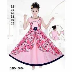 Kids Cotton Printed Designer Gown