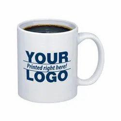 White Ceramic Corporate Gifting Coffee Mug, Packaging Type: Box