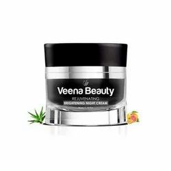 Veena Beauty Rejuvenating Brightening Night Cream, Packaging Size: 1.76 Fl Oz (50 Ml), Features: 100% Natural And Organic