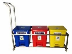 35 Ltr 3 In 1 Trolley Bin