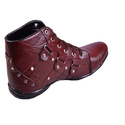 Men Maroon Leather Shoes