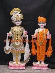 White Marble Swami Narayan Bhagwan Standing Statue