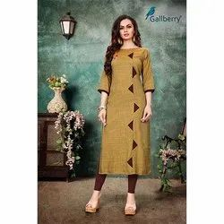 Rayon Two Tone Straight Kurti