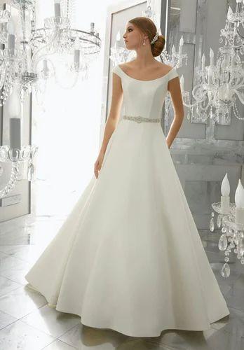 XL Silk Western Wear Stylish Wedding Bridal Designer Gown, Rs 4495 ...