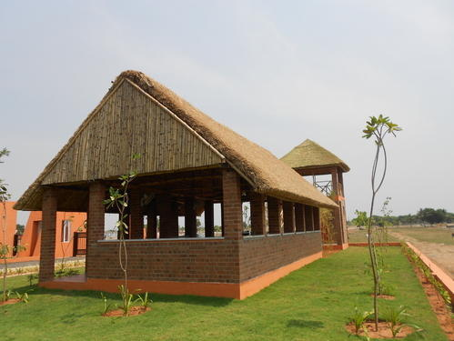 Thatched Roof In India And Bamboo House Cottage