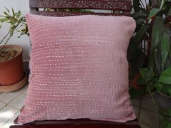 Velvet Kantha Cushion Cover