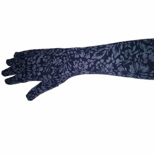 Nylon Ladies Printed Hand Gloves, Size: 24 inches