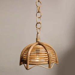 Cane Hanging Half Spherical Lamp Shade