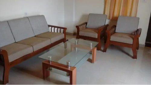 Wood Wooden Checks Sofa Set Godrej Interio Store Id 20065552562