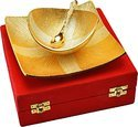 Unique Gold Plated Brass Decorative Bowl Set
