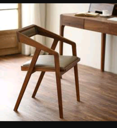Wooden Wood Arm Chair, For Home