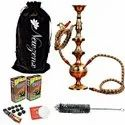 Newzenx Full Brass Hookah Ethnic Indian Traditional 17 Inch Full Accessories