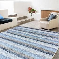 Handmade Natural Wool Viscose Carpet For Living Area