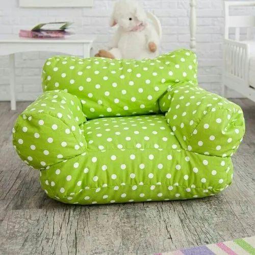 Strange Green Dotted Kids Bean Bag Creativecarmelina Interior Chair Design Creativecarmelinacom