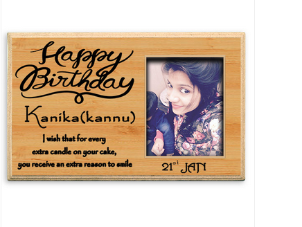 Happy Birthday Personalized Wooden Plaque Shape Square